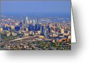 Duncan Pearson Greeting Cards - Philadelphia Aerial  Greeting Card by Duncan Pearson