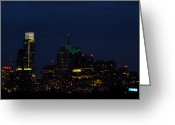 Bill Cannon Photo Greeting Cards - Philadelphia After Dark Greeting Card by Bill Cannon