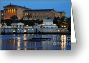 Schuylkill Greeting Cards - Philadelphia Art Museum and Fairmount Water Works Greeting Card by Gary Whitton