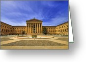 Art Museum Greeting Cards - Philadelphia Art Museum Greeting Card by Evelina Kremsdorf