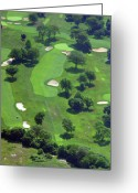 The Philadelphia Cricket Club Wissahickon Militia Hill And St Martins Golf Courses Greeting Cards - Philadelphia Cricket Club Wissahickon Golf Course 13th Hole Greeting Card by Duncan Pearson
