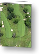 The Philadelphia Cricket Club Wissahickon Militia Hill And St Martins Golf Courses Greeting Cards - Philadelphia Cricket Club Wissahickon Golf Course 4th Hole Greeting Card by Duncan Pearson