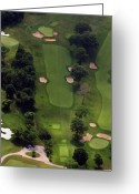 The Philadelphia Cricket Club Wissahickon Militia Hill And St Martins Golf Courses Greeting Cards - Philadelphia Cricket Club Wissahickon Golf Course 5th Hole Greeting Card by Duncan Pearson