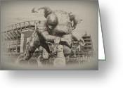 Linc Digital Art Greeting Cards - Philadelphia Eagles at the Linc Greeting Card by Bill Cannon