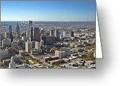 Oblique Greeting Cards - Philadelphia from North to South Greeting Card by Duncan Pearson