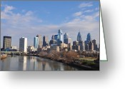 Schuylkill Greeting Cards - Philadelphia from the South Street Bridge Greeting Card by Bill Cannon