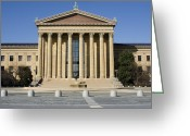 Philadelphia Museum Of Art Greeting Cards - Philadelphia Museum of Art - Courtyard Greeting Card by Brendan Reals