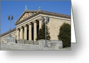 Fairmount Park Greeting Cards - Philadelphia Museum of Art Greeting Card by Brendan Reals