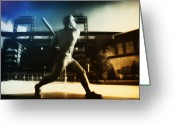 Citizens Bank Greeting Cards - Philadelphia Phillie Mike Schmidt Greeting Card by Bill Cannon