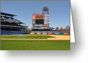 Citizens Bank Photo Greeting Cards - Philadelphia Phillies Stadium  Greeting Card by Brynn Ditsche