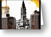 Bill Cannon Greeting Cards - Philadelphia Poster Greeting Card by Bill Cannon