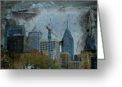 Phillie Photo Greeting Cards - Philadelphia Skyline Greeting Card by Carol Senske