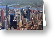 Duncan Pearson Greeting Cards - Philadelphia Skyscrapers Greeting Card by Duncan Pearson