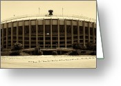 Philadelphia Greeting Cards - Philadelphia Veterans Stadium Greeting Card by Jack Paolini