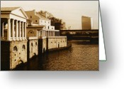 Philadelphia Greeting Cards - Philadelphia Water Works and Cira Center Greeting Card by Jack Paolini