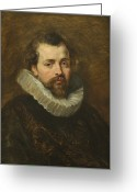Male Portraits Greeting Cards - Philippe Rubens - the artists brother Greeting Card by Peter Paul Rubens