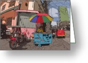 Rolf Bertram Greeting Cards - Philippines 1183 Street Vendor Greeting Card by Rolf Bertram
