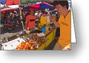 Rolf Bertram Greeting Cards - Philippines 1299 Street Food Greeting Card by Rolf Bertram
