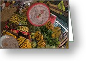 Rolf Bertram Greeting Cards - Philippines 2100 Food Market with Scale Greeting Card by Rolf Bertram