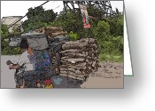 Rolf Bertram Greeting Cards - Philippines 2797 Firewood Transportation Greeting Card by Rolf Bertram
