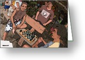 Rolf Bertram Greeting Cards - Philippines 4293 Checkers Greeting Card by Rolf Bertram