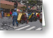 Crosswalk Painting Greeting Cards - Philippines 906 Crosswalk Greeting Card by Rolf Bertram