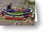 Citizens Bank Greeting Cards - Phillies Citizens Bank Park Greeting Card by Duncan Pearson
