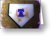 Phillies Digital Art Greeting Cards - Phillies Home Plate Greeting Card by Bill Cannon