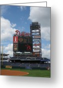 Citizens Bank Photo Greeting Cards - Phillies Greeting Card by Jennifer  Sweet
