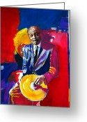 Music Legends Greeting Cards - Philly Jo Jones - Jazz Drummer Greeting Card by David Lloyd Glover