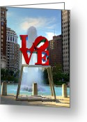 Fairmount Park Greeting Cards - Philly love Greeting Card by Paul Ward
