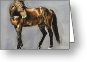 Equines Painting Greeting Cards - Phineas Greeting Card by Simona Tarakeviciute