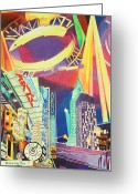York Drawings Greeting Cards - Phish New Years in New York Left panel Greeting Card by Joshua Morton