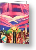 Phish Greeting Cards - Phish New Years in New York Middle Greeting Card by Joshua Morton