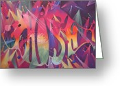 Colorful Greeting Cards - Phish the Mother Ship Greeting Card by Joshua Morton