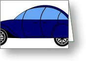 Asbjorn Lonvig Greeting Cards - Phoenix 4 CV - Virtual Car Greeting Card by Asbjorn Lonvig