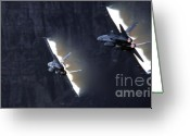 F-18 Greeting Cards - Phoenix Dancing Greeting Card by Angel  Tarantella