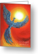 Laura Milnor Iverson Greeting Cards - Phoenix Rising Greeting Card by Laura Iverson