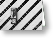 Tile Greeting Cards - Phone And Lines Greeting Card by Dan Holm