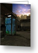 Phone Booth Greeting Cards - PhoneBooth Greeting Card by Cynthia Decker