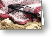 Beach Towel Photo Greeting Cards - Photochromatic Sunglasses Greeting Card by Martyn F. Chillmaid