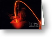 Laser Beam Greeting Cards - Photodynamic Therapy Greeting Card by Photo Researchers