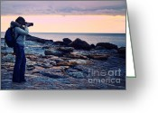 Scenary Greeting Cards - Photographer At Work Greeting Card by Gualtiero Boffi