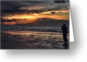 Portrait Artist Photo Greeting Cards - Photographing Sunsets Greeting Card by Douglas Barnard