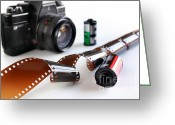 Depth Of Field Greeting Cards - Photography Gear Greeting Card by Carlos Caetano