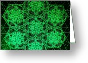 Autistic Greeting Cards - Photon Interference Fractal Greeting Card by Jason Padgett