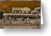 Abandoned Houses Digital Art Greeting Cards - Photos In An Attic - Coastal Home Greeting Card by Leslie Revels Andrews