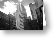 President Kennedy Greeting Cards - Photos of Montreal Mansfield St Greeting Card by Reb Frost