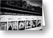 "Blackandwhite Greeting Cards - Photovilles ""the 1000ft Fence"": An Greeting Card by Natasha Marco"