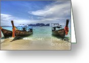 Ocean Scenes Greeting Cards - Phuket Koh Phi Phi Island Greeting Card by Bob Christopher